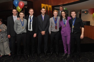 Lewis McDonald - Best & Fairest and Setter (R), Fraser Smith aka Terance Ho - Receiver (2nd R). Photo courtsey of VSA